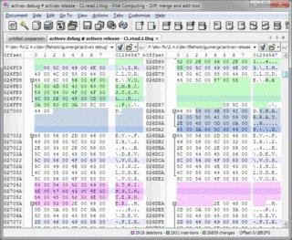 Comparaison de deux fichiers binaires