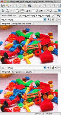 Two images side by side in ECMerge